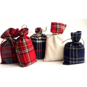 Мешочки из шотландки 15x20